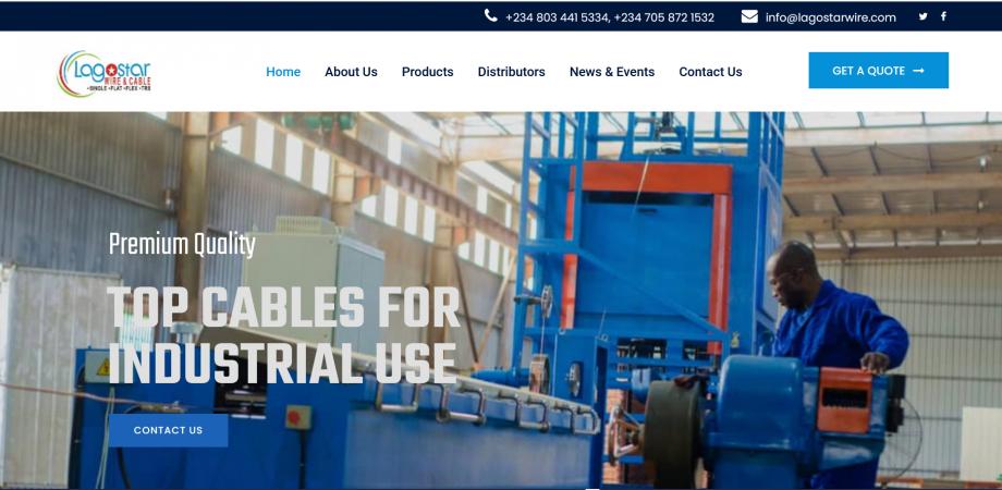 Lagostar Website Home Page Header